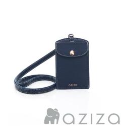 aziza 直式證件套 藍