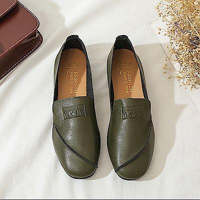 韓國KW美鞋館 韓式名媛歐美主流平底鞋-綠色