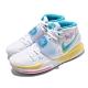 Nike 籃球鞋 Kyrie 6 EP 厄文 男鞋 Neon Graffiti 刺繡勾勾 白 藍 電繡 BQ4631101 product thumbnail 1
