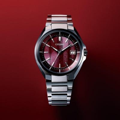 CITIZEN 星辰 東京紅限量版 鈦金屬光動能電波腕錶 CB3016-51Z