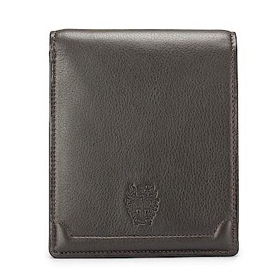 DAKS經典家徽壓紋軟皮革零錢袋短夾-咖啡色 @ Y!購物