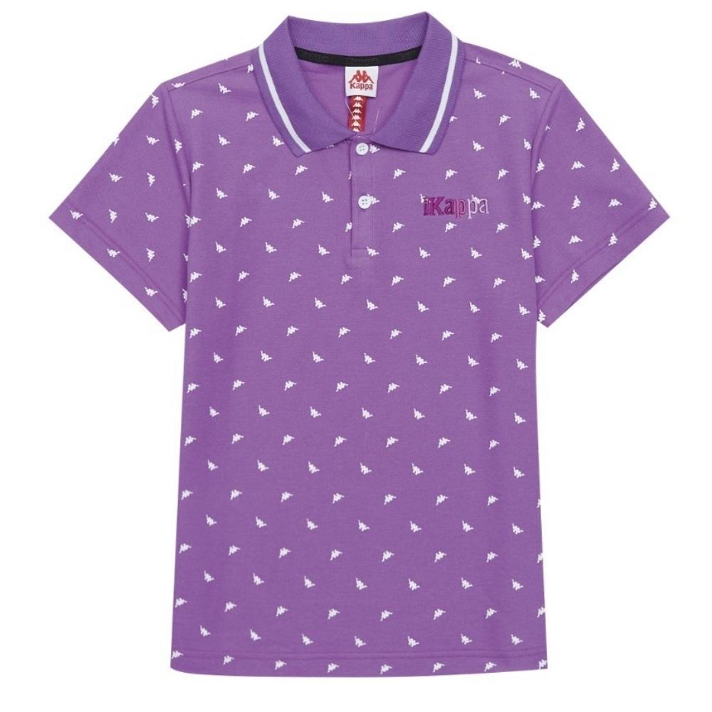KAPPA義大利 時尚吸濕排汗女針織短袖POLO衫 粉紫 34172VWXDC