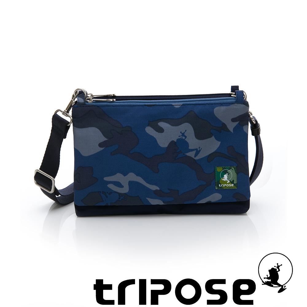 tripose MAJI系列藍迷彩x棉感迷彩多變斜背包