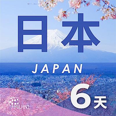 【PEKO】日本上網卡 6日高速4G上網 無限量吃到飽 優良品質高評價 快速到貨