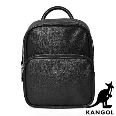 KANGOL - 英倫簡約雅緻荔枝紋後背包-共2色
