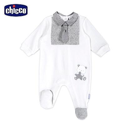 chicco-星空熊系列-領帶後開兔裝-米(3-12個月)