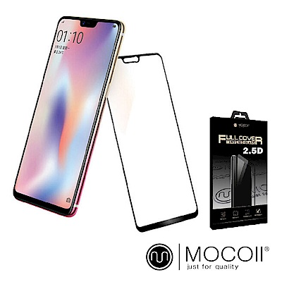 Mocoll - 2.5D 9H 鋼化玻璃膜 - Oppo R15 專用 ( 黑色 )