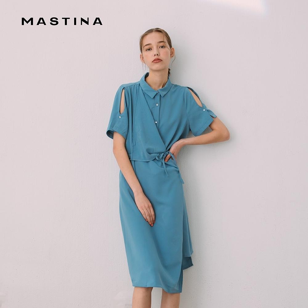 【MASTINA】不對稱設計款-洋裝 (二色)