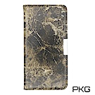 PKG Apple IPhone 8 PLUS 側翻式皮套-精選系列-大理石紋-棕紋