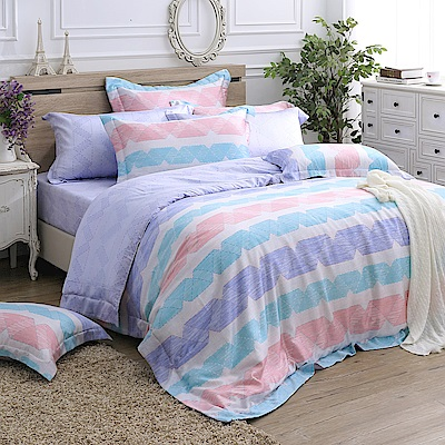 MONTAGUT-羅萊克式冥想-200織紗天絲兩用被床包組(特大)