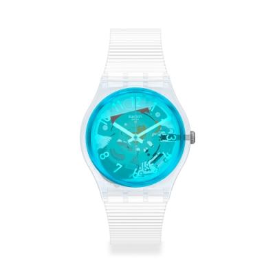 SWATCH Gent 原創系列手錶RETRO-BIANCO 藍洞秘境(34mm)