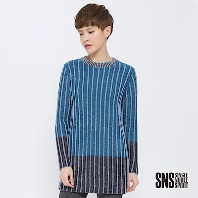 SNS 潮流觀點直織紋側開衩針織衫(3色)
