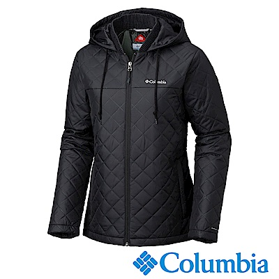 Columbia哥倫比亞 女款-Omni-HEAT保暖連帽外套-黑色UWK01470