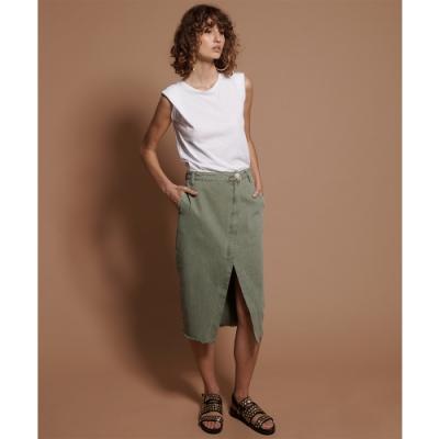 ONETEASPOON KHAKI SOCIETY SKIRT 牛仔短裙(女)