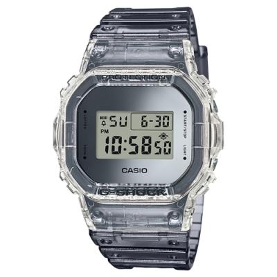 G-SHOCK 復古半透明金屬色彩運動錶(DW-5600SK-1)-42.8mm