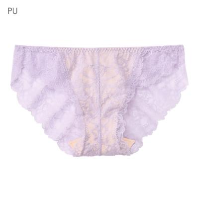aimerfeel 蕾絲無痕內褲-紫色-170721-PU