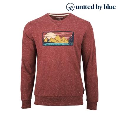 United by Blue 男起球圓領長袖上衣 101-106 紫紅 (S-XL)