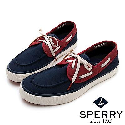 SPERRY 美式經典輕量舒適帆布鞋(男)-深藍/紅