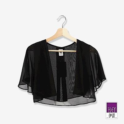 ILEY伊蕾 造型活片雪紡短外套(黑/米)