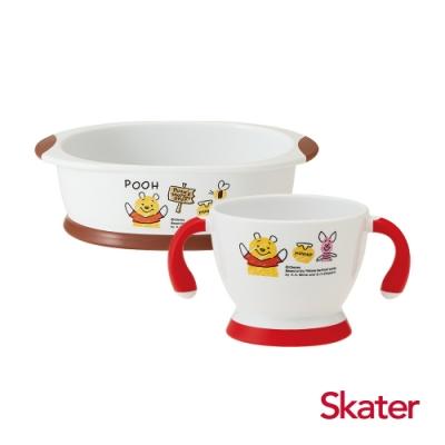 Skater幼童雙耳杯+深口盤 (維尼)