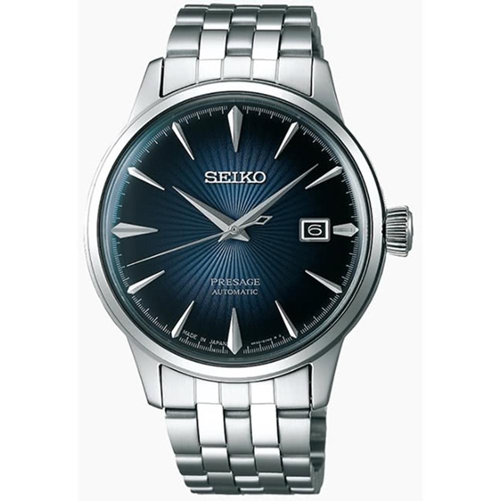SEIKO 精工Presage 調酒師商務機械腕錶-沿海藍(SRPB41J1)