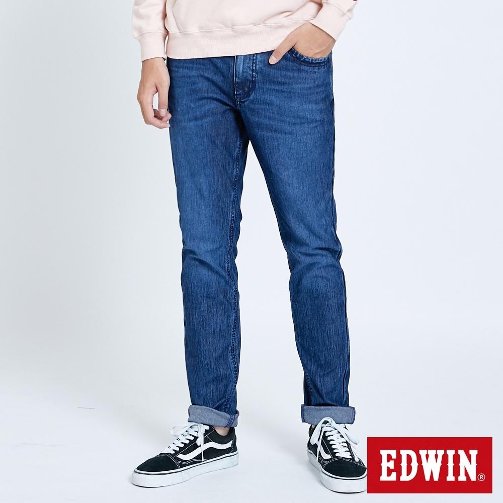 EDWIN JERSEYS 迦績 EJ2 超彈低腰窄管牛仔褲-男-拔洗藍
