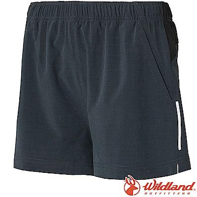 Wildland 荒野 W1505-49深灰藍 女四彈抗UV休閒運動短褲