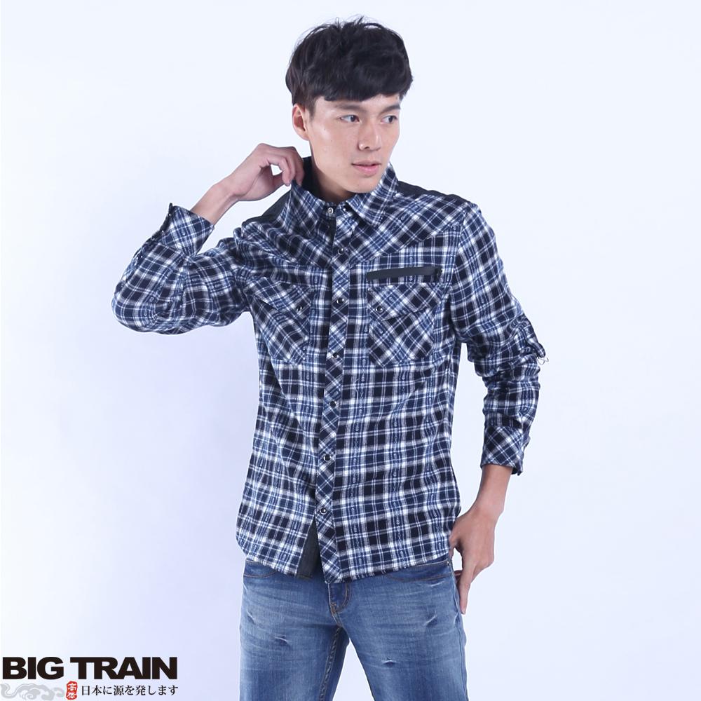 BigTrain 法蘭絨格襯衫-男-藍