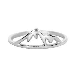 Pura Vida 美國手工 銀色內華達山造型純銀戒指