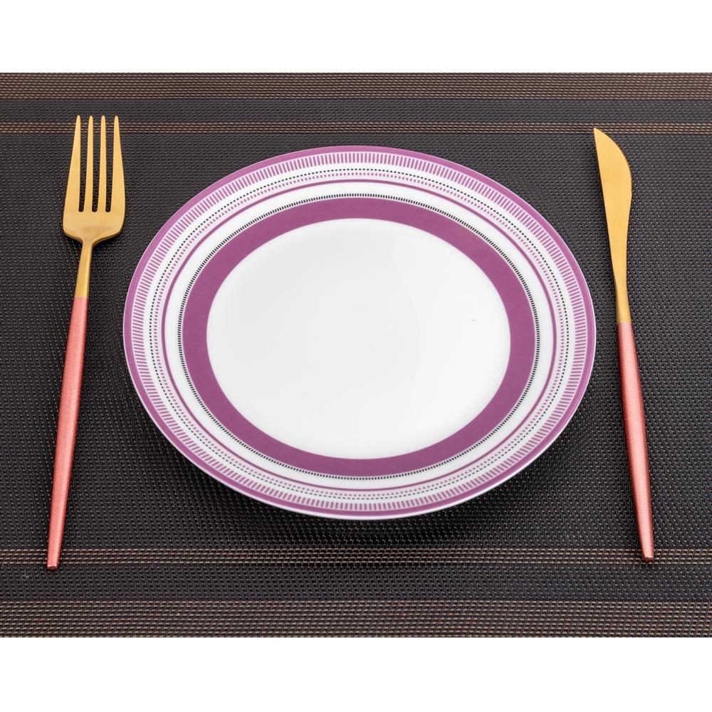 【Royal Duke】限量回饋12件!!彩漾骨瓷7吋圓盤/平盤/餐盤 餐具組(不挑色)