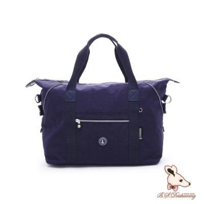 B.S.D.S冰山袋鼠-威尼斯假期x防水大容量附插袋旅行包-秘境藍