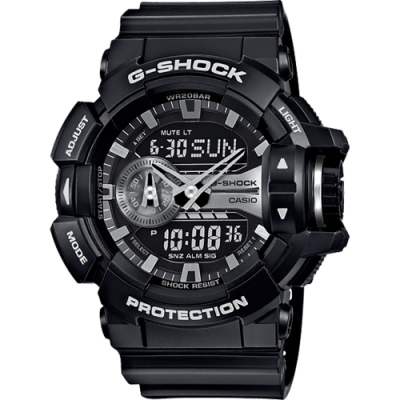 CASIO 卡西歐 G-SHOCK 鋼鐵裝甲手錶(GA-400GB-1A)
