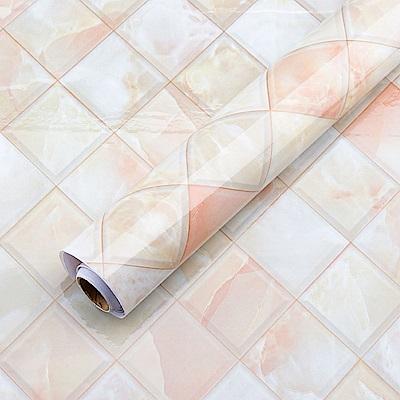 樂嫚妮 (買一送一)DIY裝修加厚防水大理石紋壁貼60X300cm