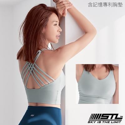 STL yoga Bra Crop Top Skyline 韓國瑜伽 天際線 運動內衣/短版背心上衣 (含專利記憶棉胸墊) 薄荷綠LightKhaki