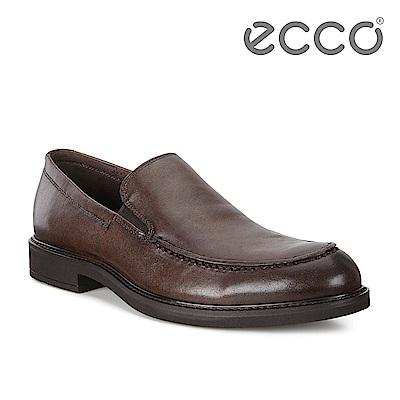 ECCO VITRUS III 簡約商務套入式正裝鞋 男-棕色