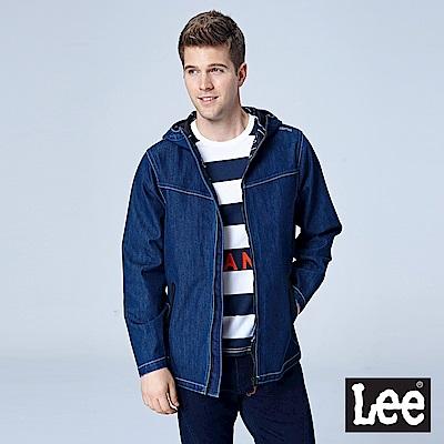 Lee 連帽storm stopper牛仔外套/UR-中深藍