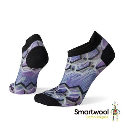 SmartWool 女 PhD超輕跑步PRINT踝襪 淺紫