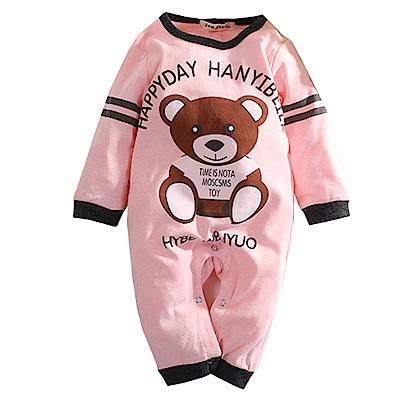 熊印花長袖連身衣 k60390 魔法Baby