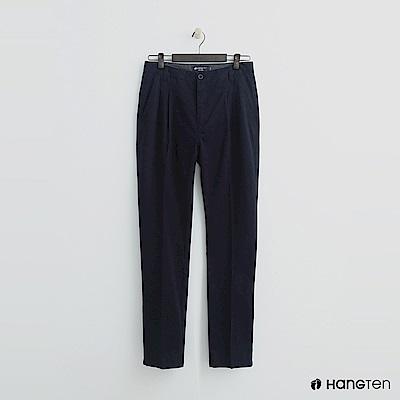 Hang Ten - 男裝 -純色打摺西裝褲-藍