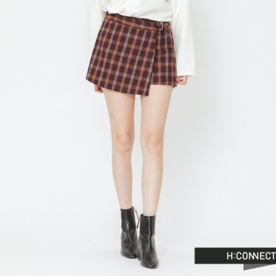 H:CONNECT 韓國品牌 女裝 -格紋毛呢褲裙-橘(快)