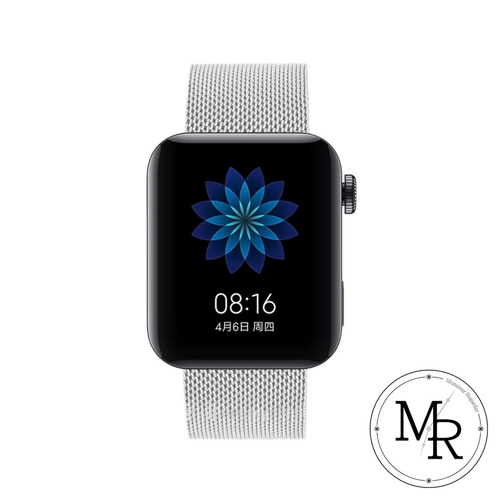 MR AMAZFIT米動手錶青春版米蘭式卡扣替換錶帶-贈拆錶針