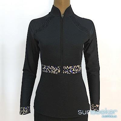 澳洲Sunseeker泳裝女士長袖專業衝浪潛水防寒衣-上衣