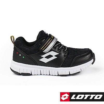 LOTTO 義大利 童 SPACERUN 太空漫步輕量跑鞋 (黑)