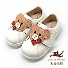 天使童鞋 百搭學院型小熊休閒鞋(中童)i8034-白