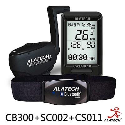 ALATECH 單車進階優惠套組 (CB300車錶+SC002踏頻器+CS011心跳帶)