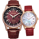 CITIZEN 曼哈頓情緣 光動能對錶(BX1009-10X+FC8009-18Y)