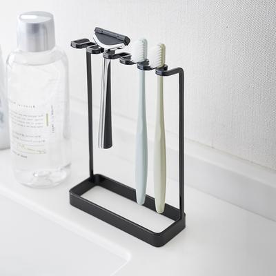 日本【YAMAZAKI】tower極簡立式牙刷架(黑)★日本百年品牌★立式牙刷架/衛浴收納/浴室收納