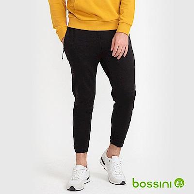 bossini男裝-運動束口長褲02黑