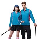 SPAR吸濕排汗女版長袖POLO衫SP77412亮藍色