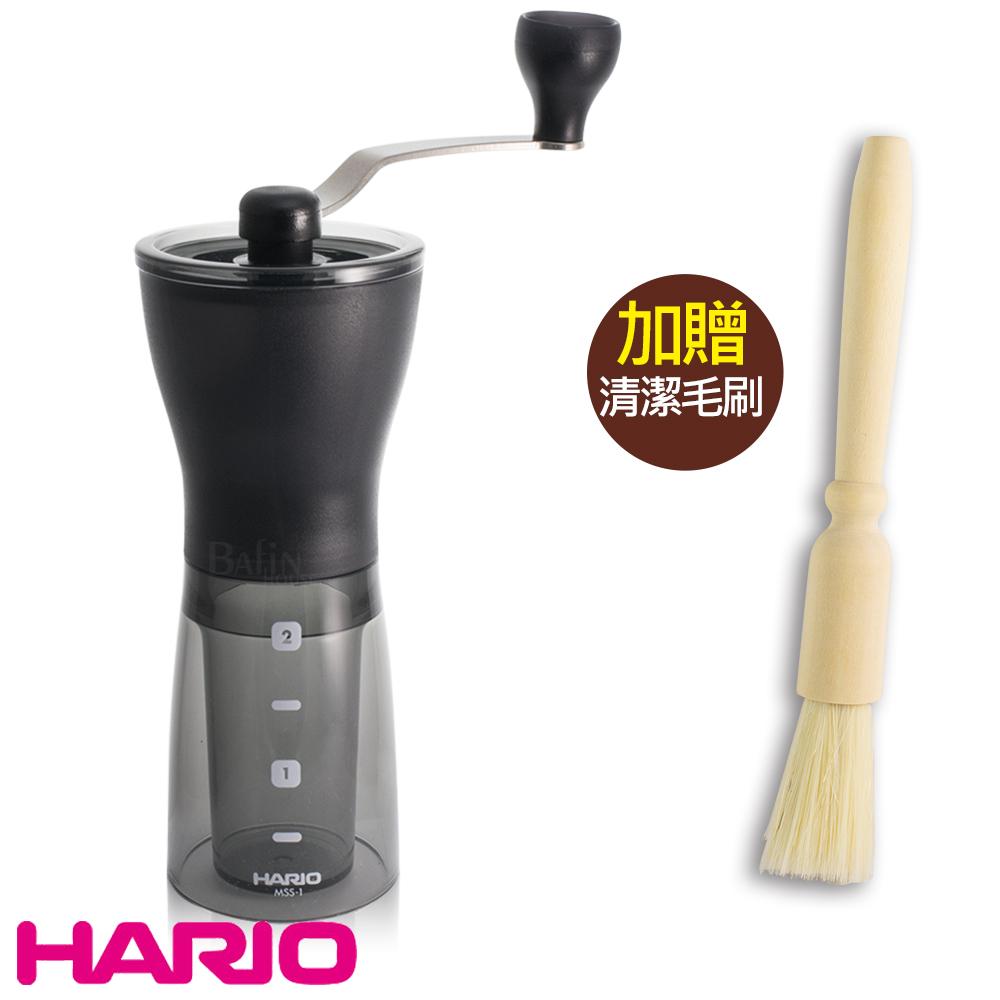 【日本 HARIO】第二代輕巧手搖磨豆機 (附贈 木柄毛刷)